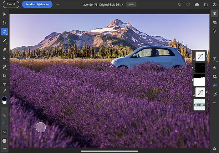 Lightroom iPad linked editing