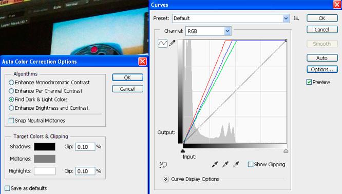 Auto Colour Correction Options