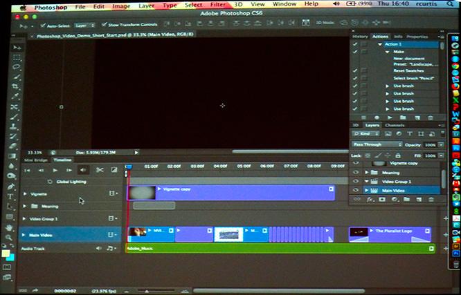 CS6 Video Timeline
