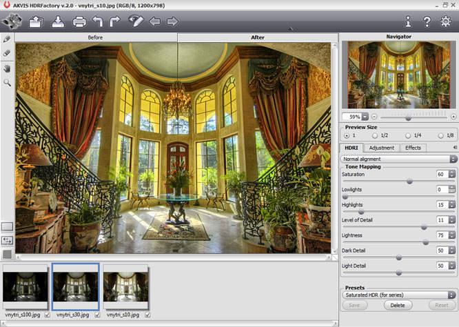 AKVIS HDRFactory v3.0 Screenshot