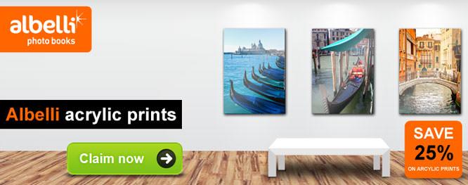 Albelli Acrylic Prints Speical ePHOTOzine Member Offer