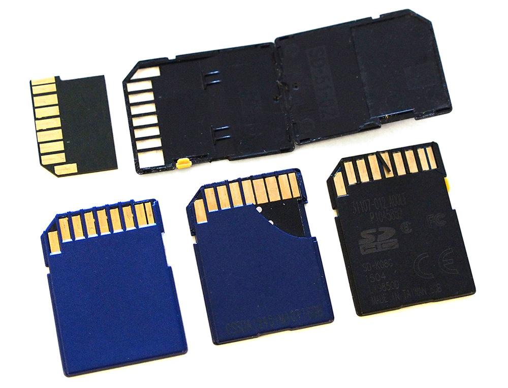 Damaged SD cards