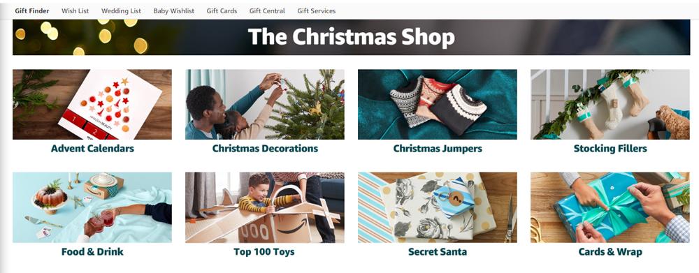 Amazon UK Christmas Shop