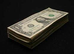 Dollar money stack