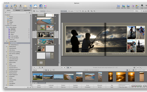 Create Photobooks in Aperture 3
