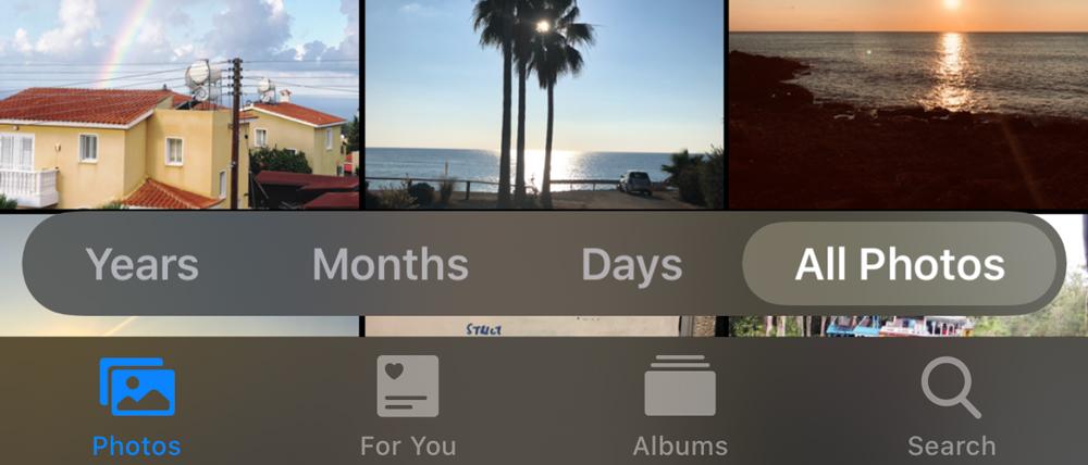 Organise Photos in iOS 13