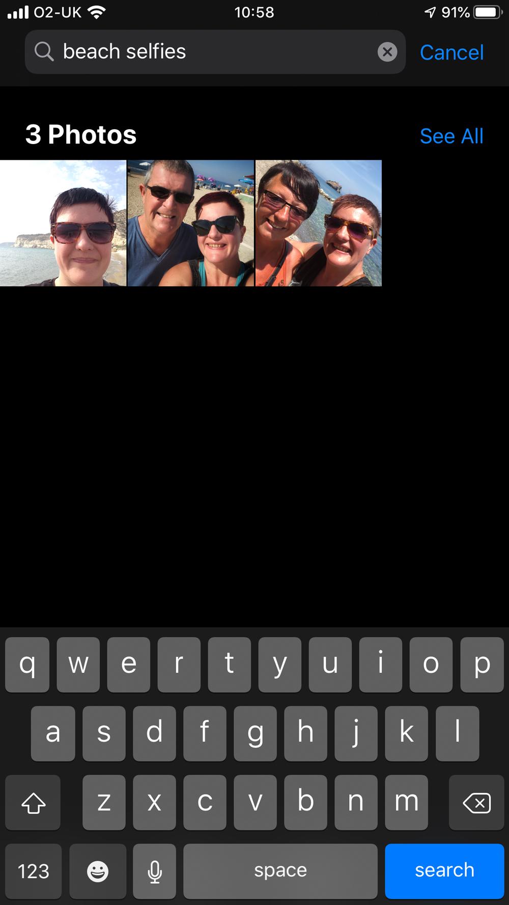 iOS 13 Camera App Search Function