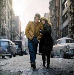 Bob Dylan and Suze Rotolo by Don Hunstein