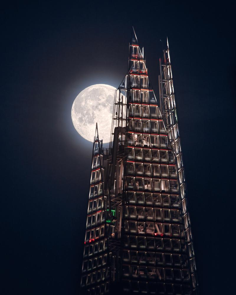 The Moon and the Shard © Mathew Browne (UK)