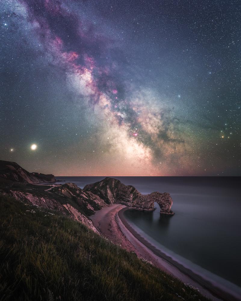 Milky Way rising over Durdle Door - Anthony-Sullivan