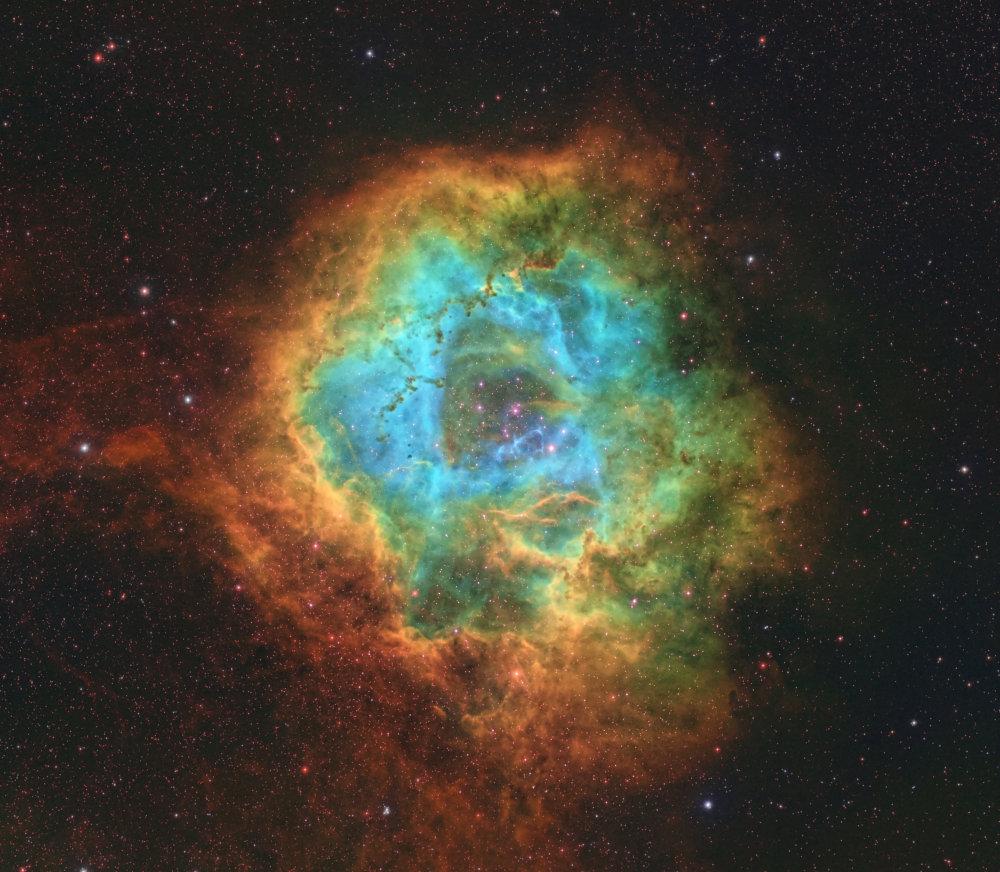 Rosette Nebula SHO |
