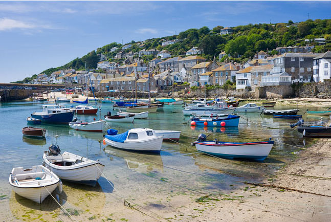 Mousehole Harbour near Lands End in Cornwall