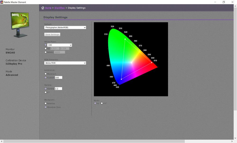 Benq Pm 010 Adobe RGB