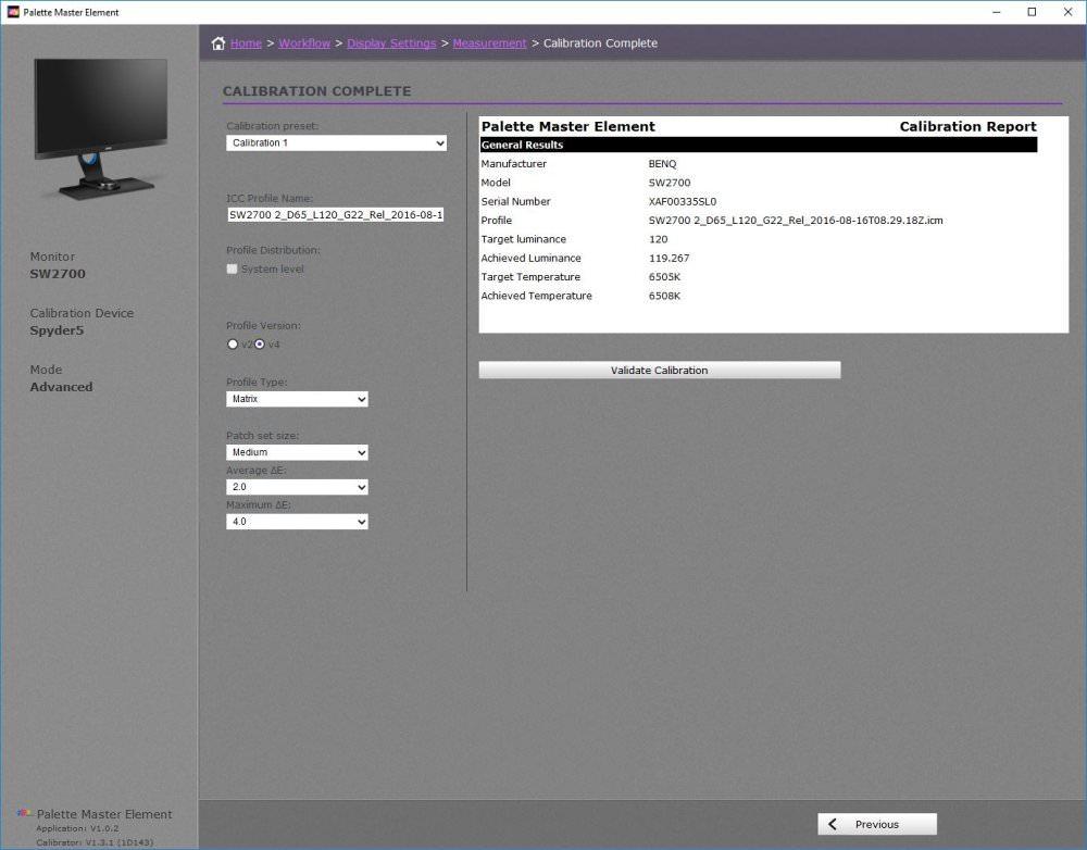 Benq Sw2700pt Colour Calibration New Results
