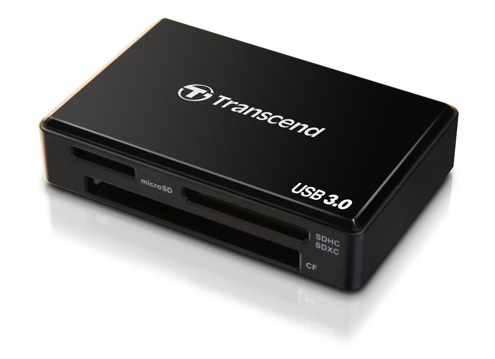 Transcend All-in-1 Multi-Card Reader Device (SDHC/SDXC/MSXC USB 3.0) Black