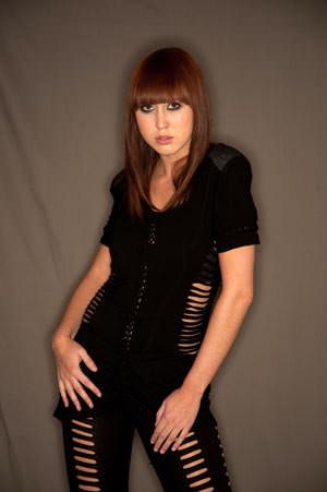 Bowens Ringflash Pro - Chloe Bleackley against mid tone background