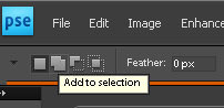 Add to selection in photoshop Elements