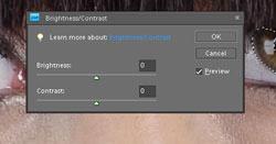 Contrast/Brightness adjustment in Photoshop Elements