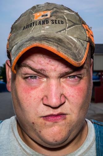 Bruce Gilden Caleb, a farm boy