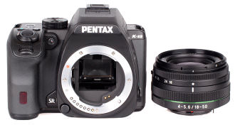 Pentax K S2 With Lens White Bg