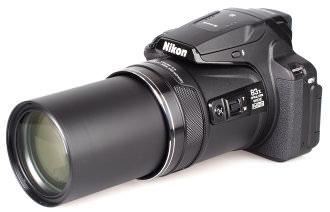 Nikon Coolpix P900 Lens Extended White Bg