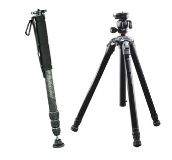 Monopod and a compact tripod