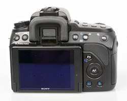 Sony Alpha 500 Rear