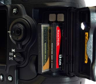 Nikon D3s Memory Cards