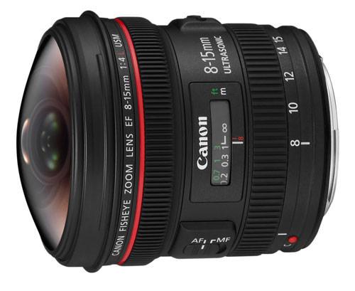 Canon EF 8-15mm f/4L Fisheye USM zoom lens