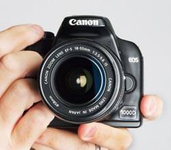 Canon EOS 1000D size