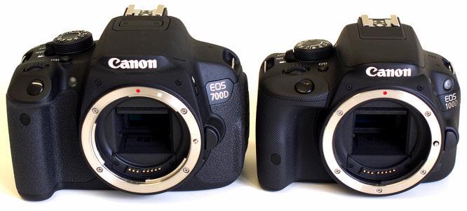 Canon Eos 700d Vs 100d Front