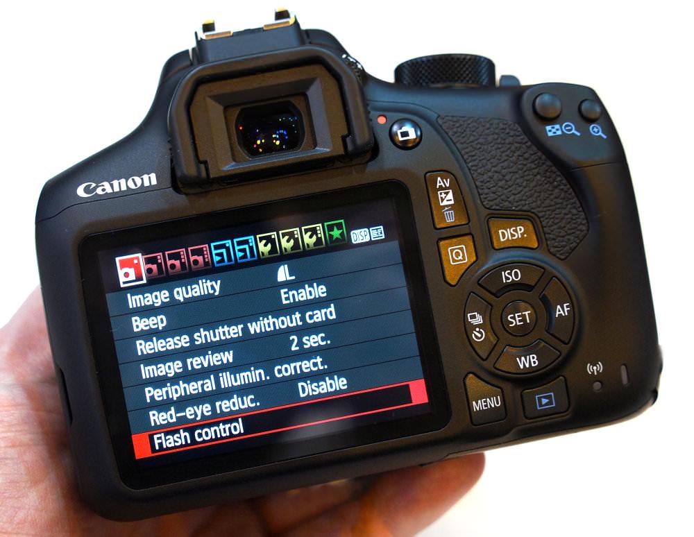 Canon Eos 1300d Rear