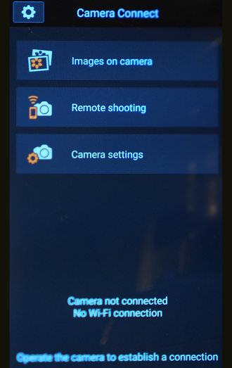 Canon 1300d Remote App Menu