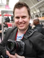 Canon EOS 1D MkIV held by Matt Grayson