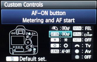 Canon EOS 1d X Custom Buttons