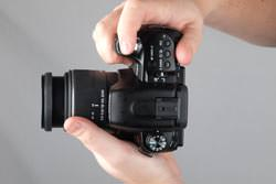 Sony Alpha A500 top view