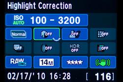 Pentax K-7 vs canon EOS 50D: Pentax screen