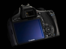 Canon EOS 550D & 18-55mm f/3.5-5.6 IS lens from rear