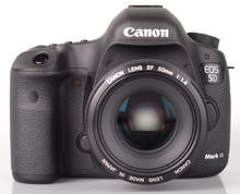 Canon Eos 5d MarkIII-front 50mm Lens