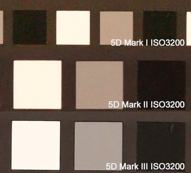 Canon EOS 5D Mark I vs II vs III