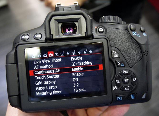 Canon EOS 650D Menus