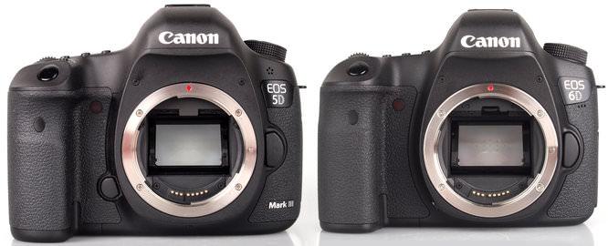 Canon Eos 5d MarkIII Vs Canon Eos 6d To Scale 2