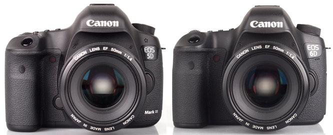 Canon Eos 5d MarkIII Vs Canon Eos 6d To Scale