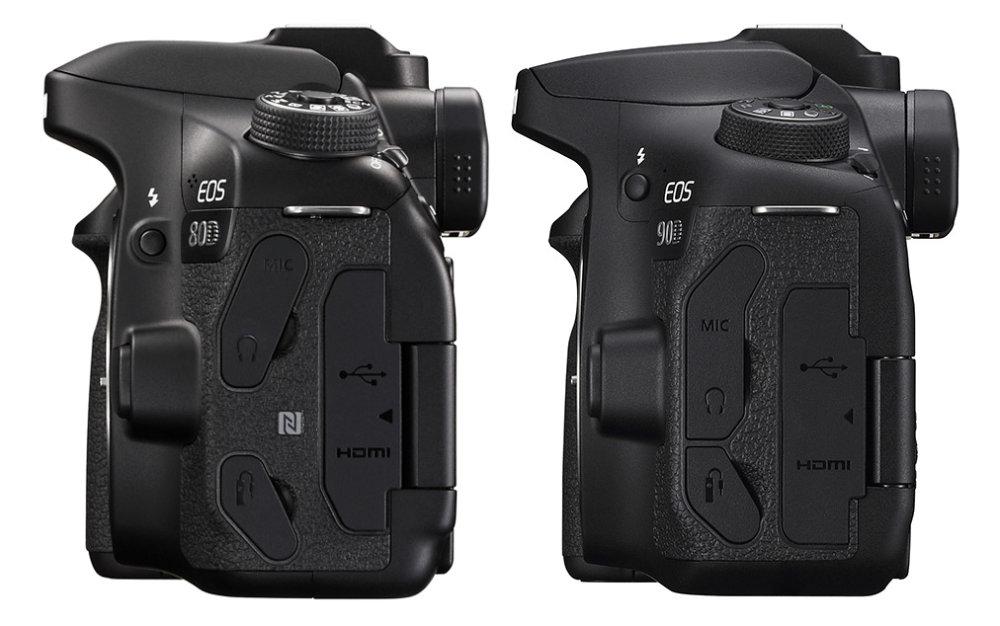 Canon Eos 80d Vs Canon Eos 90d Side View