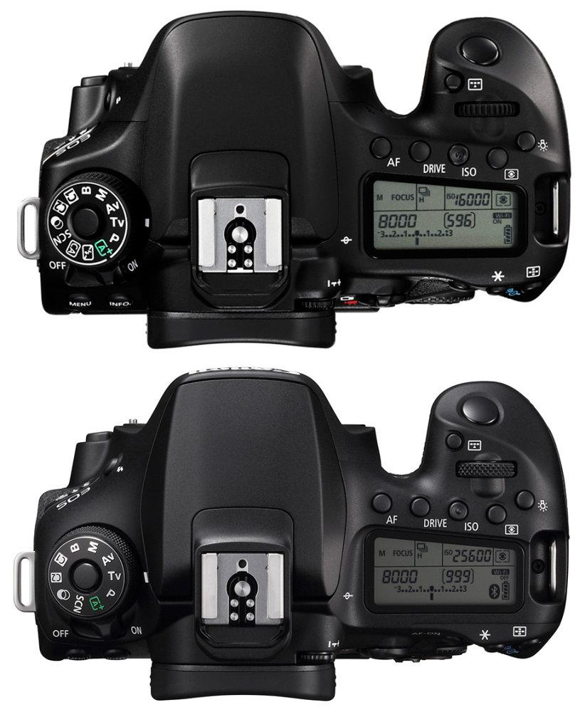 Canon Eos 80d Vs Canon Eos 90d Top