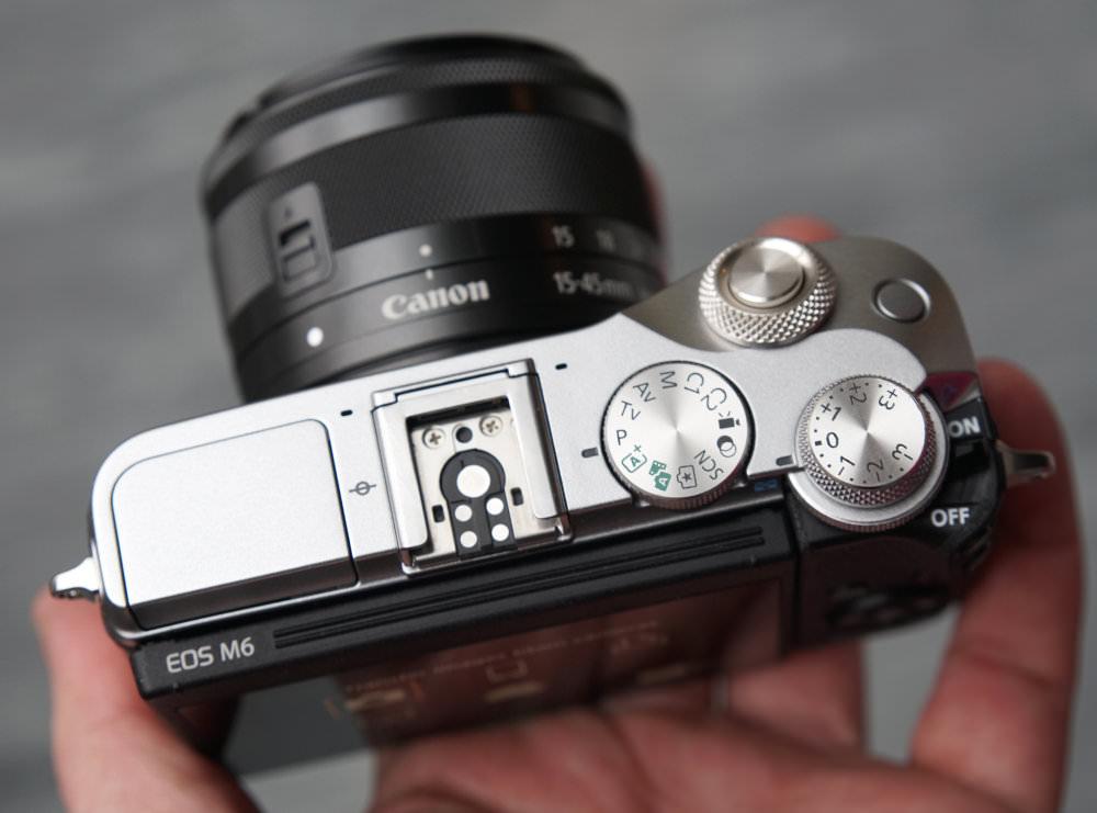 Canon EOS M6 Top