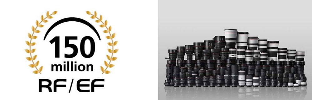 Canon Has Produced 150 Million Interchangeable RF & EF Lenses