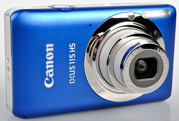 Canon IXUS 115 HS front lens