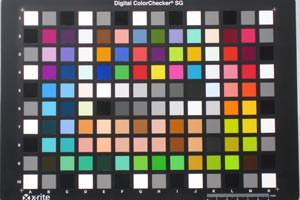 Canon IXUS 200 IS colour chart