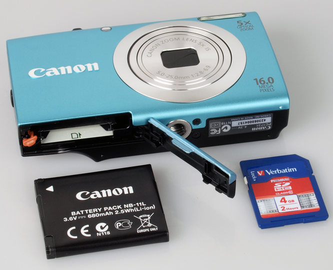 Canon Powershot A2400 Battery And Memory